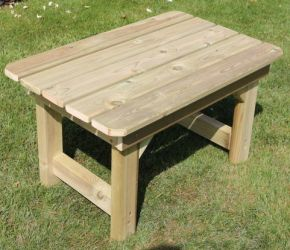 Outdoor Wooden Coffee Table - 80cm (31.4in)