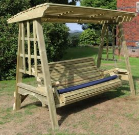 Antoinette Wooden Three Seater Garden Swing - 2.3m (7ft 6in)