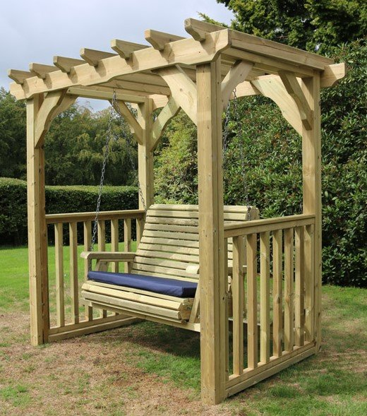 Ophelia Wooden Two Seater Garden Swing - 2.1m (6ft 10in)