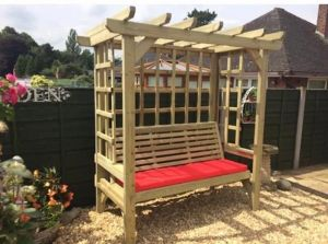 Beatrice Wooden Three Seater Arbour - 2.1m (6ft 10in)