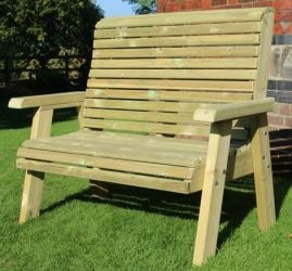 Ergo Redwood Two Seater Bench - 1.2m (3ft 11in)