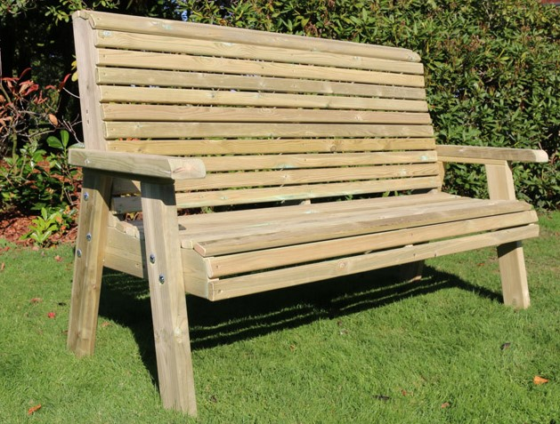 Ergo Redwood Three Seater Bench - 1.7m (5ft 6in)