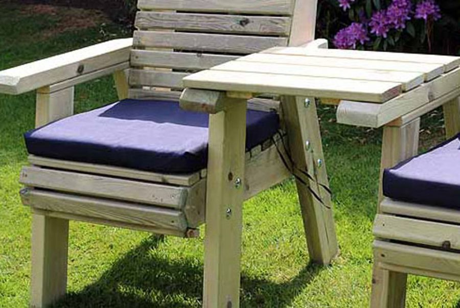 Navy Garden Bench Cushion - Single