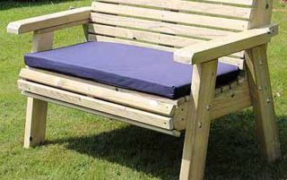 Navy Garden Bench Cushion - Double