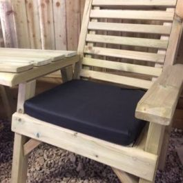 Black Outdoor Bench Cushion - Single