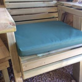 Green Garden Bench Cushion - Single