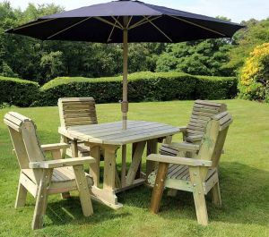 Parasol In Black - Square W2.7m (8ft 10in)