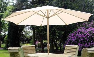 Parasol In Cream - Square W2.7m (8ft 10in)