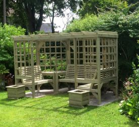 Riviera Wooden Seven Seater Pergola - 3.3m (10ft 9in)