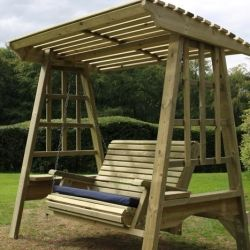 Antoinette Wooden Two Seater Garden Swing - 1.85m (6ft)