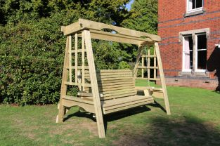Cottage Wooden Three Seater Garden Swing - 2.3m (7ft 6in)