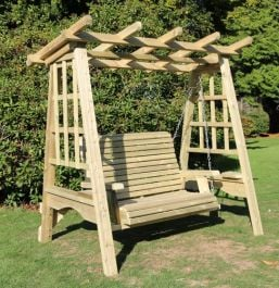 Redwood Two Seater Pergola Garden Swing - 1.85m (6ft)