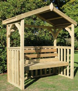 Anastasia Wooden Three Seater Arbour - 1.86m (6ft 1in)