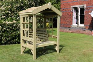 Redwood Two Seater Cottage Arbour With Trellis - 1.9m (6ft 2in)
