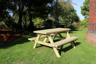 D2.05m A-Frame Picnic Table Table with benches by Churnet Valley®