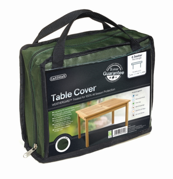 Gardman 170cm x 94cm 6 Seater Green Rectangular Table Furniture Cover