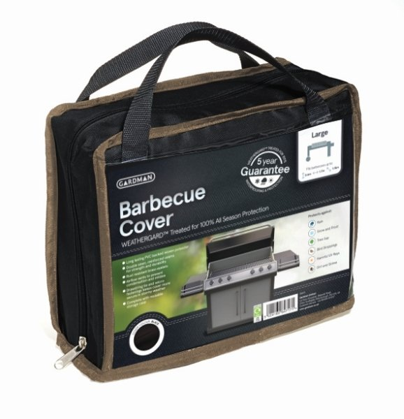 Gardman 170cm x 60cm Barbecue Cover - Black
