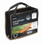 Gardman 175cm x 100cm Sun Lounger Furniture Cover - Black