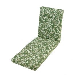 1.98m Sunlounger Cushion in Cotswold Leaf