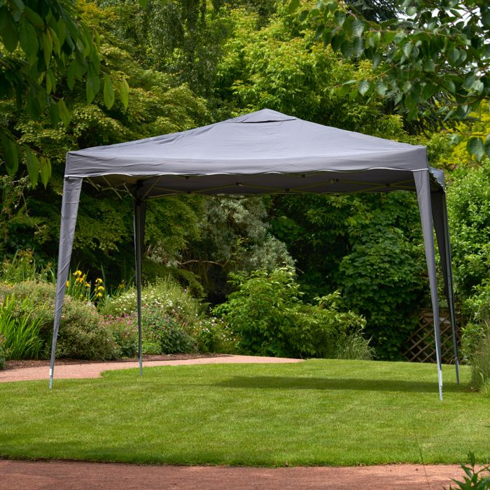 3m x 3m Easy-Up Gazebo in Grey
