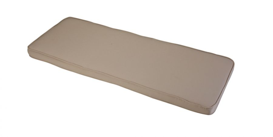 1.16m 2 Seater Bench Cushion in Taupe