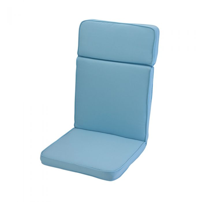 1.16m High Back Recliner Cushion in Placid Blue