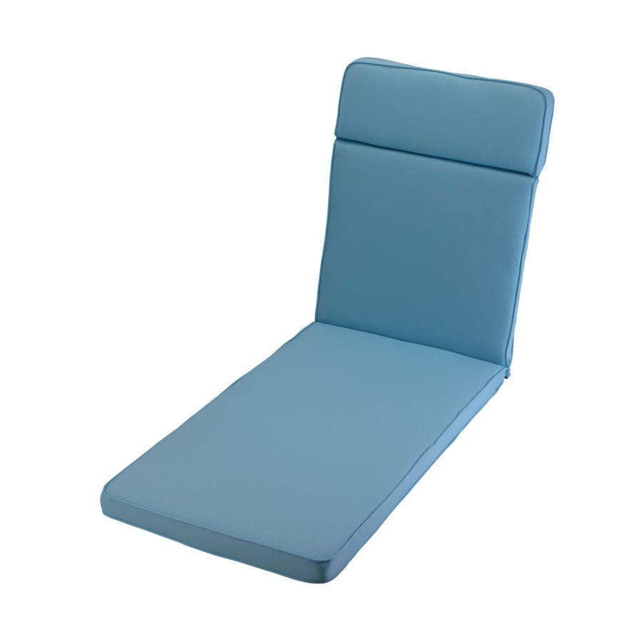 1.98m Sunlounger Cushion in Placid Blue