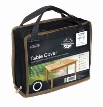 Gardman 170cm x 94cm 6 Seater Rectangular 6 Table Furniture Cover - Black