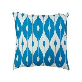 30cm Scatter Cushion in Light Blue Pattern