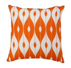 30cm Scatter Cushion in Orange Pattern