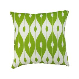 45cm Scatter Cushion in Green Pattern