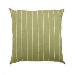 45cm Scatter Cushion in Green Stripe