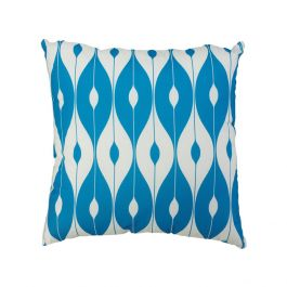 45cm Scatter Cushion in Light Blue Pattern