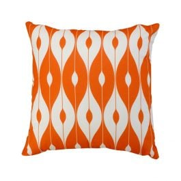 45cm Scatter Cushion in Orange Pattern