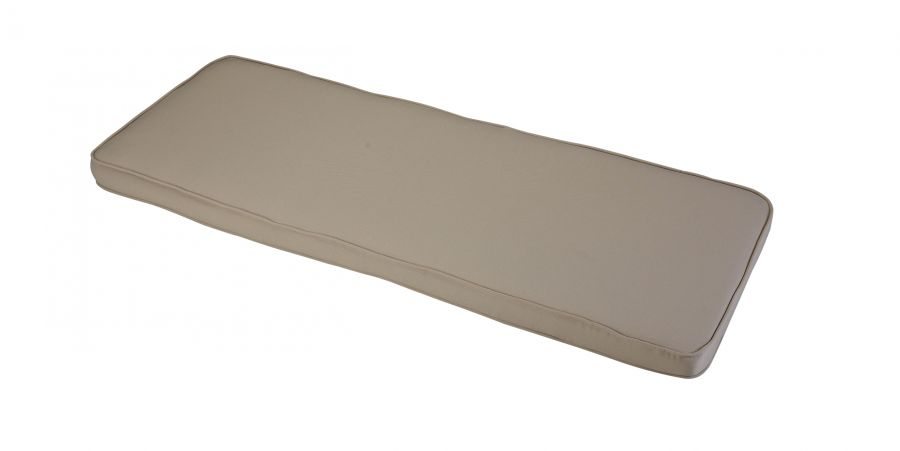 1.41m 3 Seater Garden Bench Cushion in Stone