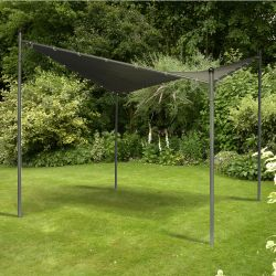 3m x 3m Twin Sail Gazebo in Grey