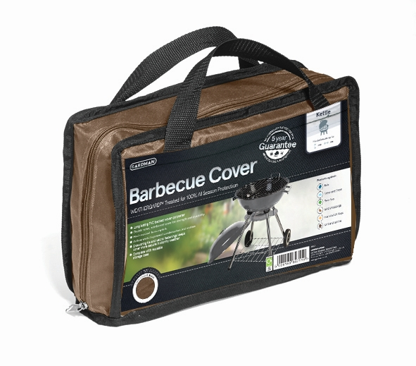 Gardman 90cm x 71cm Kettle Barbecue Cover - Brown