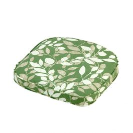 41cm Standard D Seat Pad Chair Cushion in Cotswold Leaf