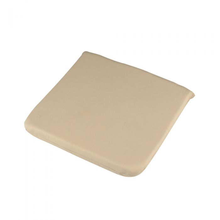 40cm Square Outdoor Seat Pad/Cushion in Cream
