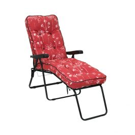 Deluxe Sun Lounger in Renaissance Rouge