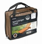Gardman 175cm x 100cm Sun Lounger Furniture Cover - Brown