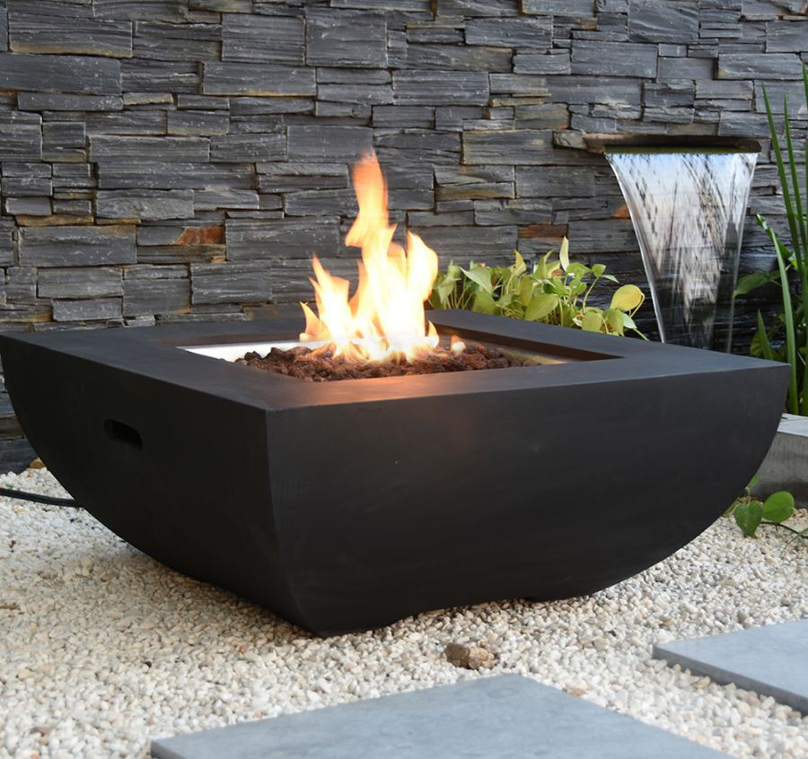 85cm Aurora Concrete Gas Firepit Table