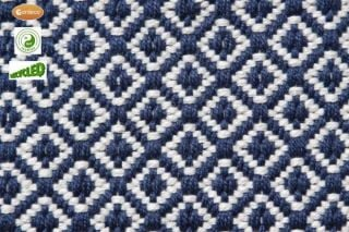 60cm x 90cm Outdoor Diamond Rug in Dark Blue by Gardeco