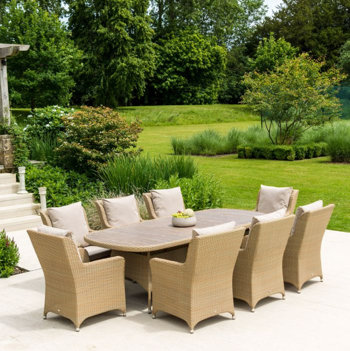 Alexander Rose Richmond 8 Seater Rattan Oval Garden Dining Set