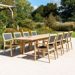 Alexander Rose Roble Wooden 8 Seater Rectangle Dining Garden Set