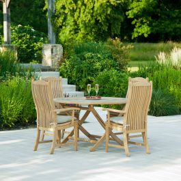 Alexander Rose Roble Wooden 8 Seater Round Garden Dining Set