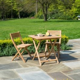 Alexander Rose Roble Wooden Tea for Two Garden Bistro Set
