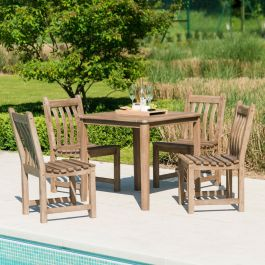 Alexander Rose Sherwood Wooden 4 Seater Square Garden Dining Set
