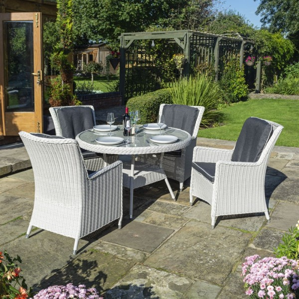 4 Seater Prestbury Round Table Dining Set by Rowlinson®