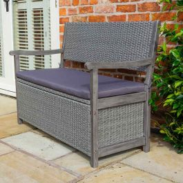 1.2m Marberry Alderley Rattan Storage Bench Box by Rowlinson®